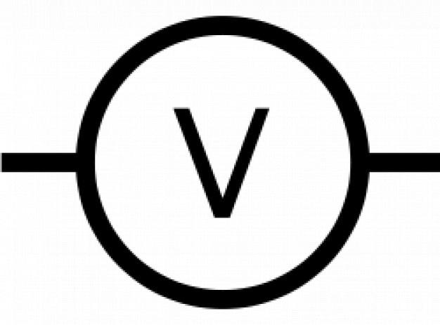 iec voltmeter symbool vector