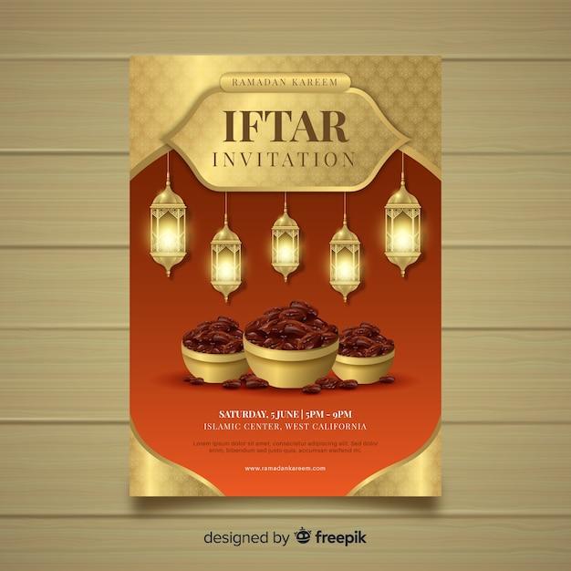 Iftar feest Gratis Vector
