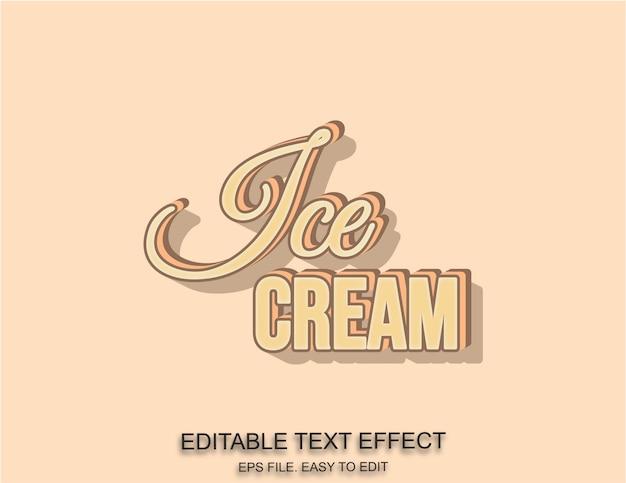 Ijs tekst effect Premium Vector
