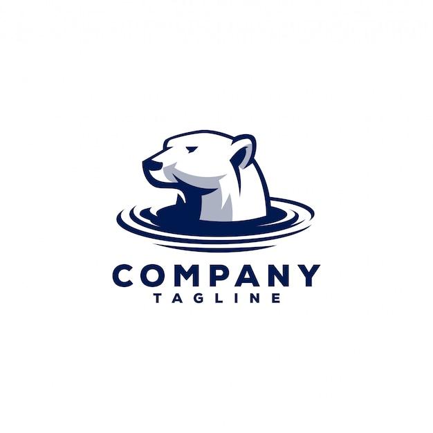 Ijsbeer logo Premium Vector