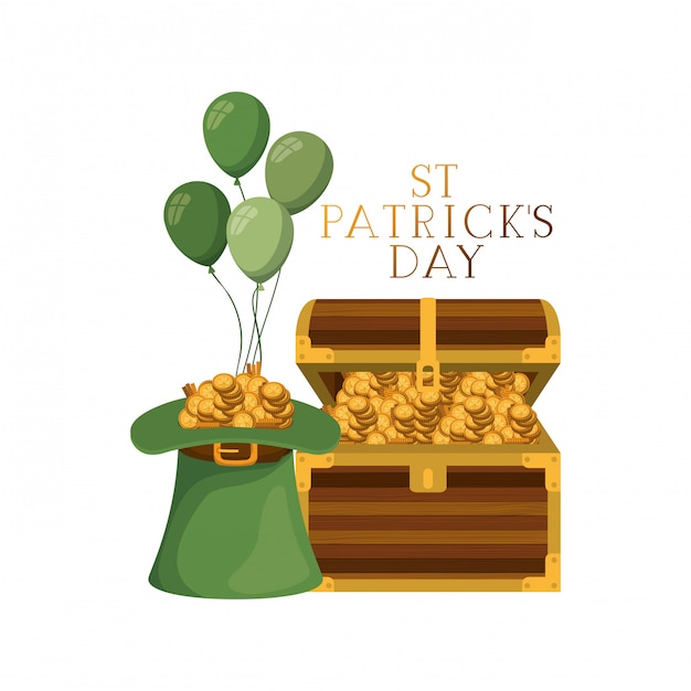 Ik wens je een gelukkig st Patrick's Day-label Premium Vector