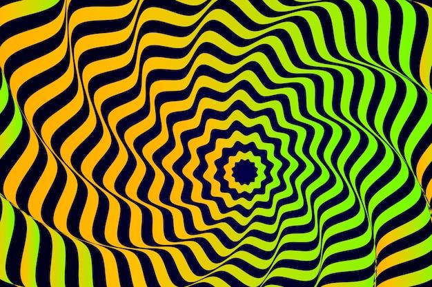 Illusie effect achtergrond met strepen Gratis Vector