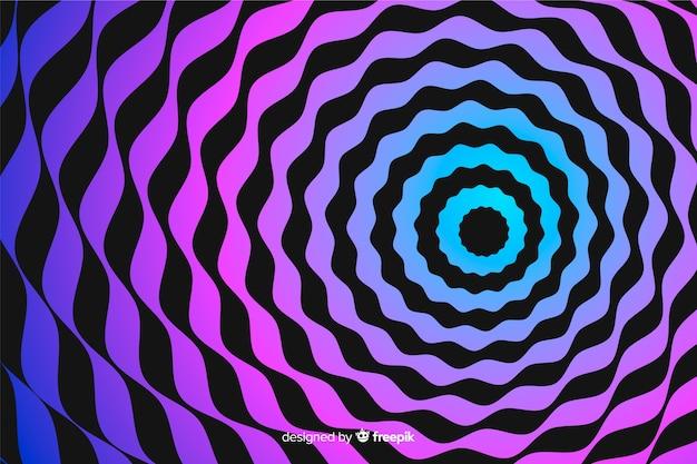 Illusie effect spiraal achtergrond Gratis Vector