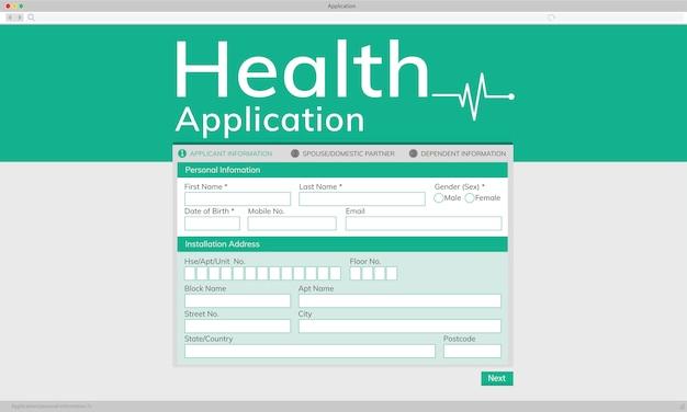 Illustation van gezondheidstoepassing Gratis Vector