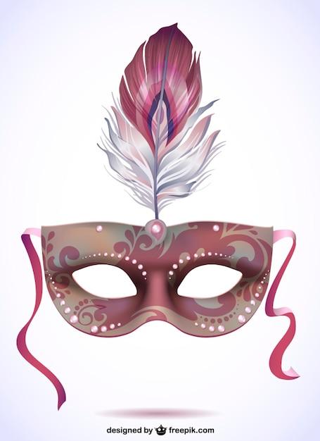 Illustratie carnaval masker gratis Gratis Vector