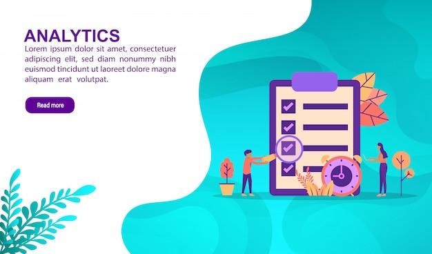 Illustratie concept van analyse Premium Vector