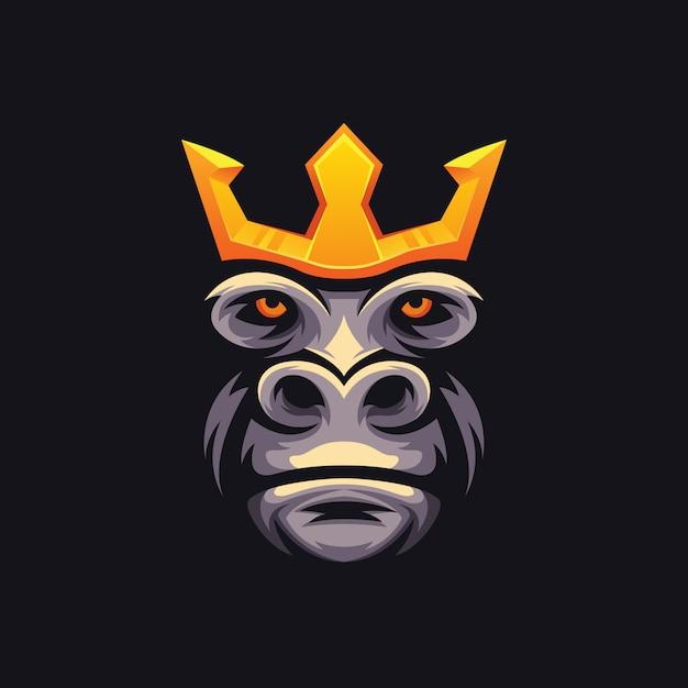 Illustratie king kong e sport logo Premium Vector