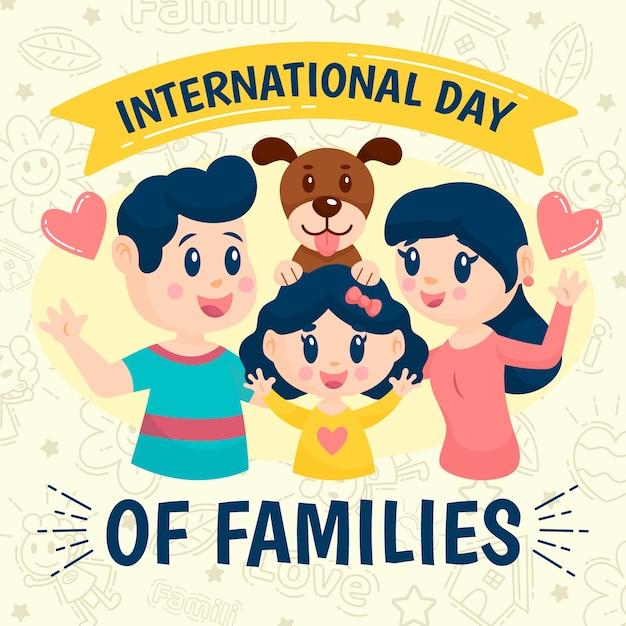 Illustratie met internationale dag van families thema Gratis Vector