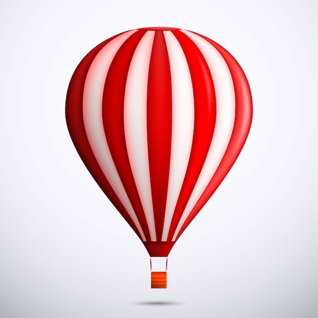 Illustratie met rode luchtballon Premium Vector