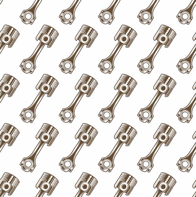 Illustratie naadloos patroon met zuiger Premium Vector