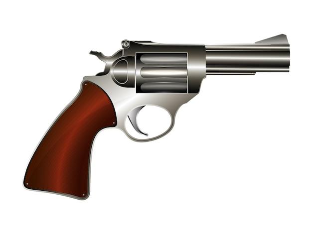 Illustratie revolver Premium Vector