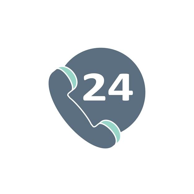 Illustratie van 24 uur klantenondersteuning Gratis Vector