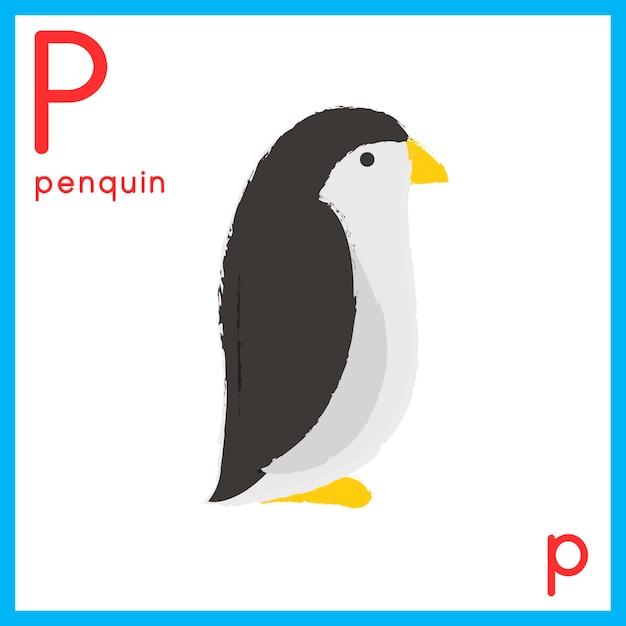 Illustratie van alfabetbrief met dierlijk beeld Gratis Vector
