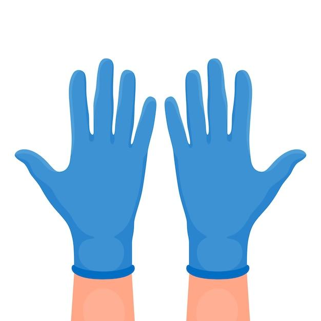 Illustratie van beschermende handschoenen Gratis Vector