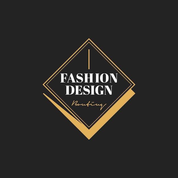 Illustratie van boutique winkel logo stempel banner Gratis Vector