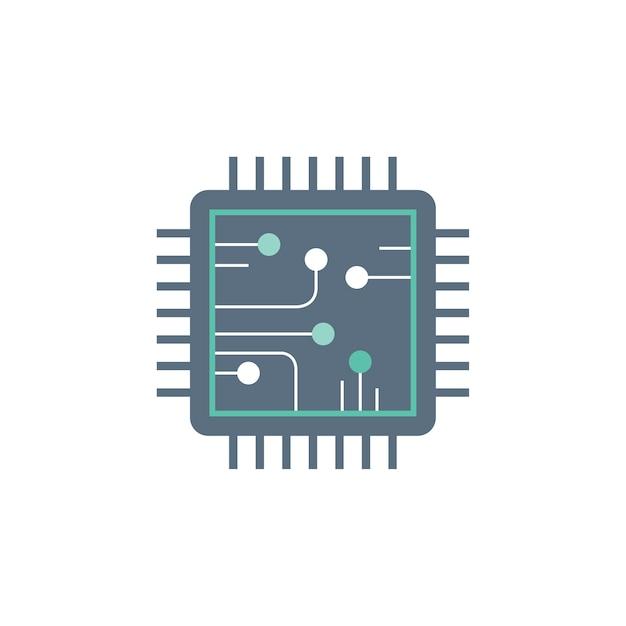 Illustratie van circuit Gratis Vector