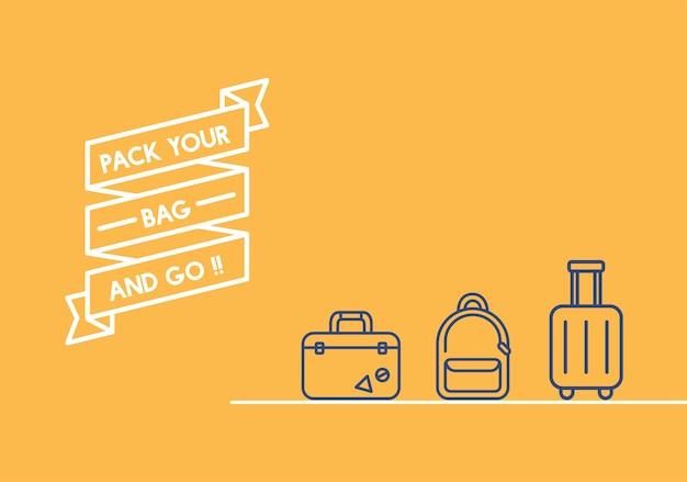 Illustratie van de banner van het reislint Gratis Vector