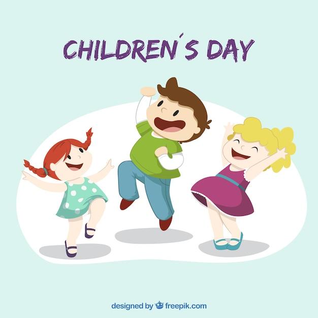 Illustratie van de dag van kinderen Gratis Vector