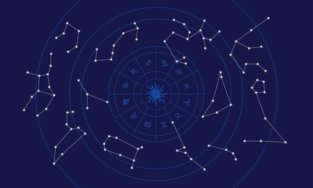 Illustratie van de horoscoop Gratis Vector
