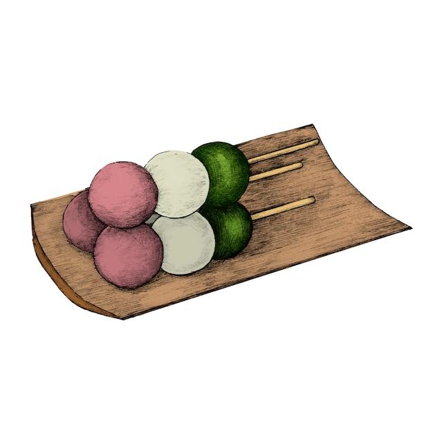 Illustratie van de japanse keuken Premium Vector