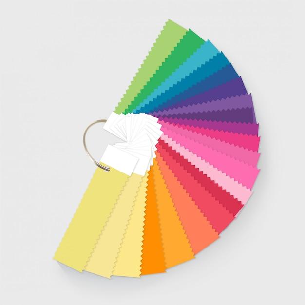 Illustratie van de kleurenpaletgids voor mode en interieur Premium Vector
