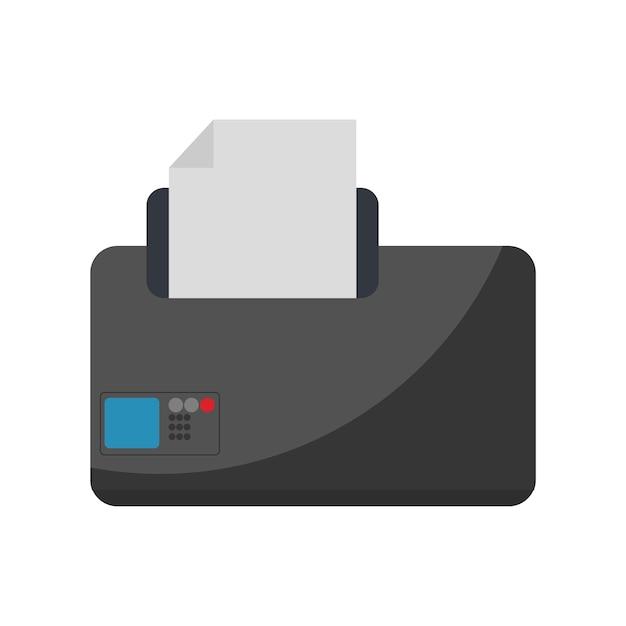 Illustratie van de printer Gratis Vector