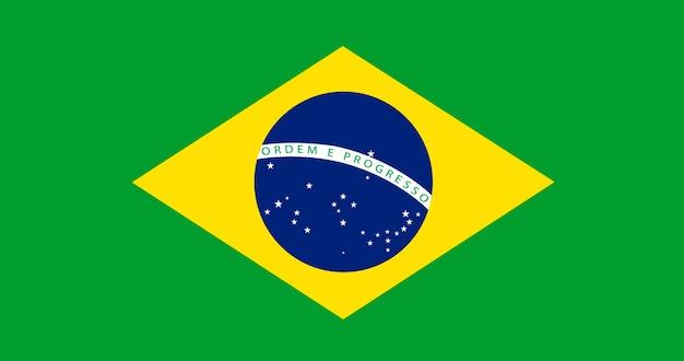 Illustratie van de vlag van brazilië Gratis Vector
