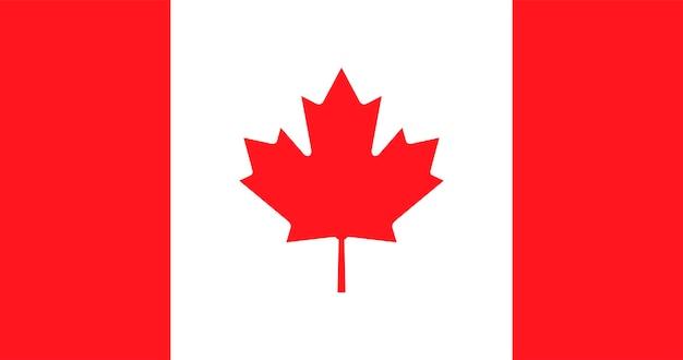 Illustratie van de vlag van canada Gratis Vector