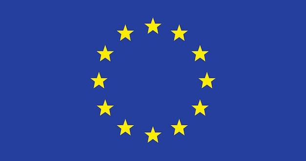 Illustratie van de vlag van de europese unie Gratis Vector