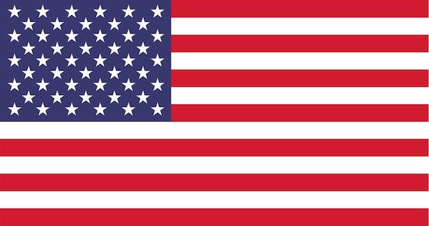 Illustratie van de vlag van de vs Gratis Vector