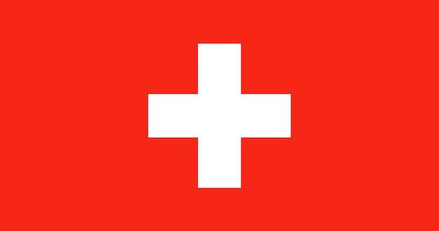 Illustratie van de vlag van zwitserland Gratis Vector