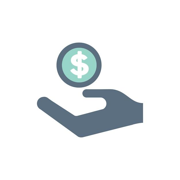 Illustratie van donatieondersteuningspictogrammen Gratis Vector