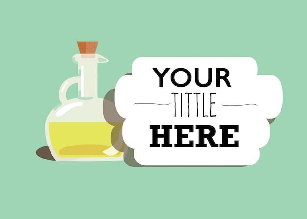 Illustratie van een fles olijfolie Gratis Vector