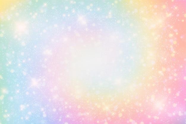 Illustratie van fantasieachtergrond en pastelkleur Premium Vector