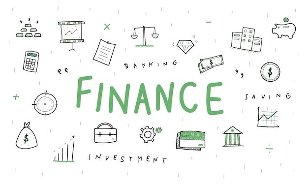 Illustratie van financieel concept Gratis Vector