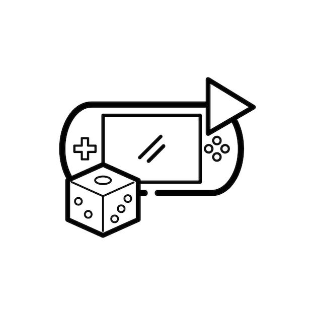 Illustratie van game-entertainment Gratis Vector