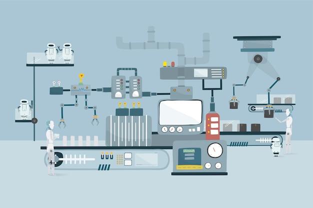 Illustratie van grafische robotvector Gratis Vector