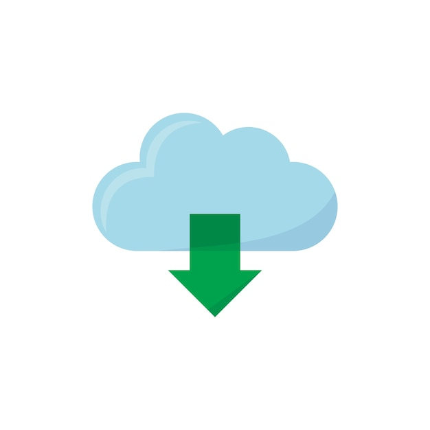 Illustratie van het downloaden van pictogram Gratis Vector