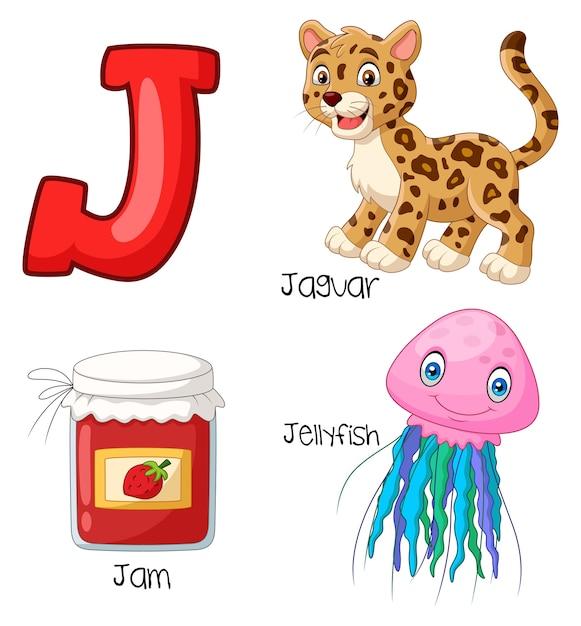 Illustratie van j-alfabet Premium Vector