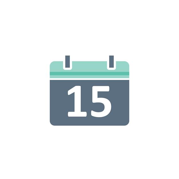 Illustratie van kalenderpictogram Gratis Vector