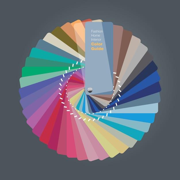 Illustratie van kleurenpaletgids voor huisbinnenlandontwerper Premium Vector