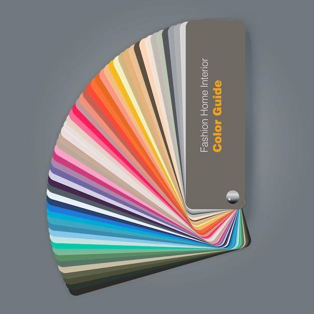 Illustratie van kleurenpaletgids voor manier binnenlandse ontwerper Premium Vector