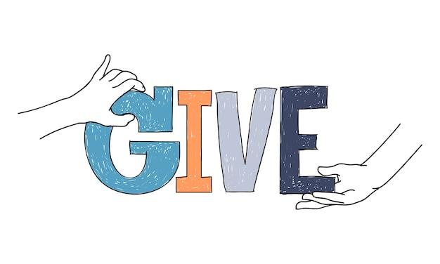 Illustratie van liefdadigheidssteun Gratis Vector