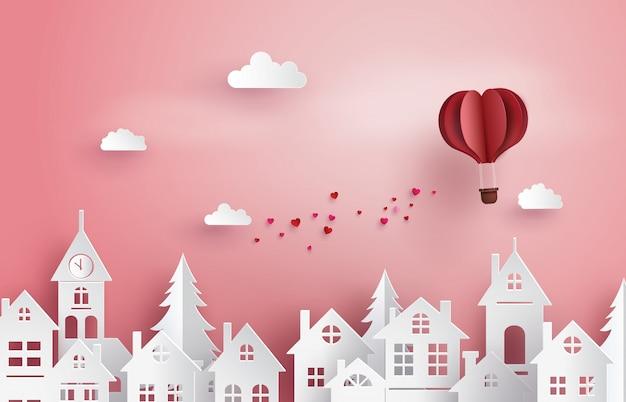 Illustratie van liefde en valentijnskaartdag Premium Vector