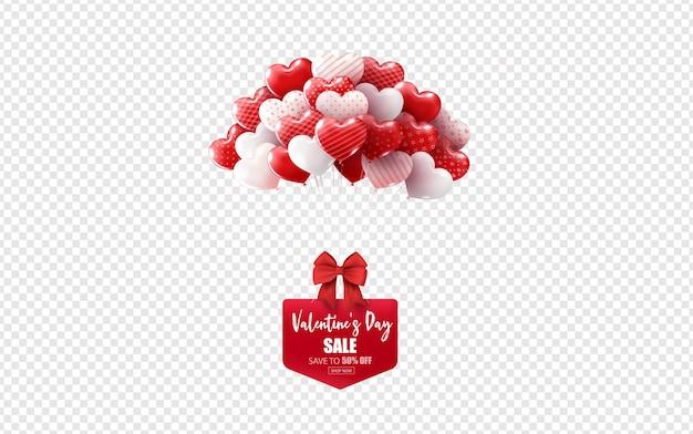 Illustratie van liefde voor valentijnskaartdag Premium Vector