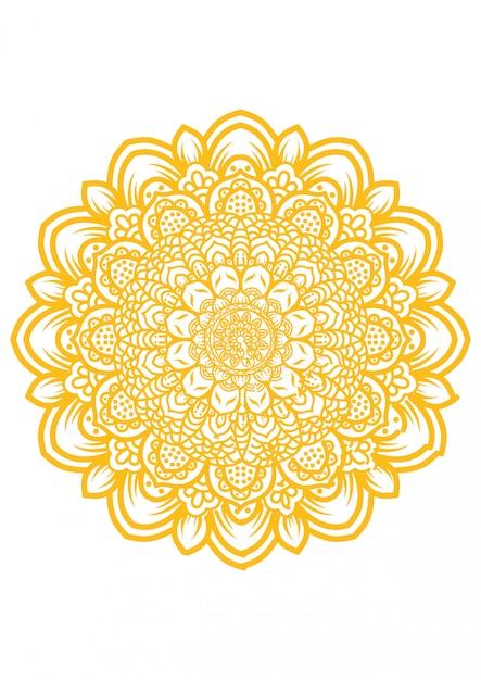 Illustratie van mandala kunst Premium Vector