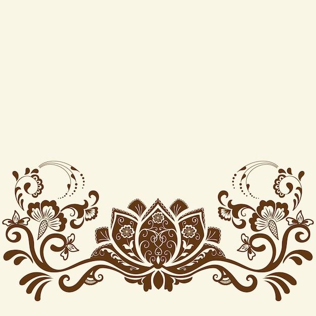 Illustratie van mehndi ornament Gratis Vector
