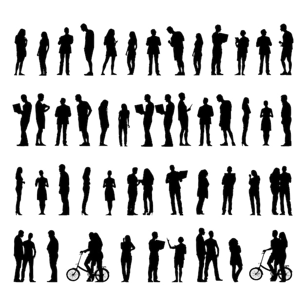 Illustratie van mensen uit het bedrijfsleven Gratis Vector