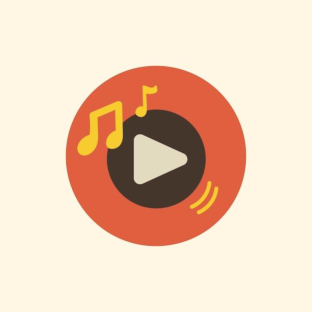 Illustratie van muziek toepassingspictogram Gratis Vector