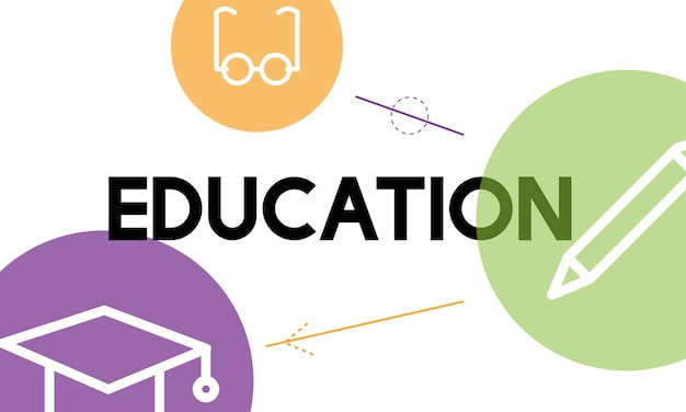 Illustratie van onderwijsconcept Gratis Vector